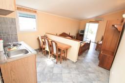 Студия (гостиная+кухня). Боко-Которская бухта, Черногория, Столив : Студия с балконом с шикарным видом на залив, возле пляжа