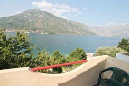 Вид. Боко-Которская бухта, Черногория, Столив : Студия с балконом с шикарным видом на залив, возле пляжа