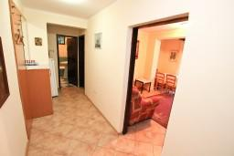 Коридор. Боко-Которская бухта, Черногория, Муо : Апартамент с отдельной спальней, с террасой с видом на море, 100 метров до пляжа