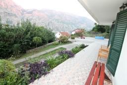 Вид. Боко-Которская бухта, Черногория, Муо : Апартамент с отдельной спальней, с террасой с видом на море, 100 метров до пляжа
