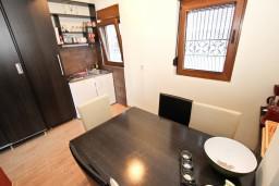 Кухня. Будванская ривьера, Черногория, Будва : Современный апартамент с отдельной спальней, с 2-мя балконами