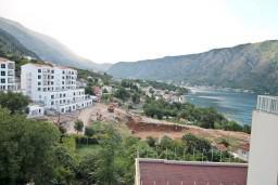 Вид. Боко-Которская бухта, Черногория, Доброта : Современный апартамент для 4-5 человек, с отдельной спальней, с балконом с видом на море