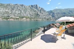 Вид на море. Боко-Которская бухта, Черногория, Муо : Апартамент с отдельной спальней, с 2-мя ванными комнатами, с большой террасой с шикарным видом на море, 10 метров до пляжа