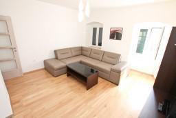 Гостиная. Боко-Которская бухта, Черногория, Котор : Современный апартамент с отдельной спальней, с большой гостиной