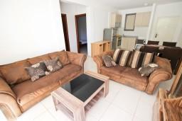 Гостиная. Бечичи, Черногория, Бечичи : Современный апартамент для 4-6 человек, 2 отдельные спальни, с балконом с видом на море