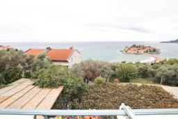 Вид на море. Будванская ривьера, Черногория, Святой Стефан : Комната на 2-3 персоны, с балконом видом на море