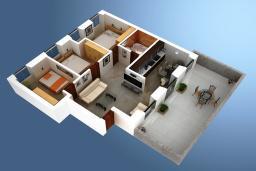 Прочее. Боко-Которская бухта, Черногория, Котор : Апартамент для 6-8 человек, с 3-мя отдельными спальнями, с просторной гостиной, с ванной комнатой с джакузи, с большой террасой