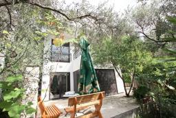Территория. Будванская ривьера, Черногория, Петровац : Современная вилла с 2-мя просторными гостиными, с 7-ю отдельными спальнями, с 5-ю ванными комнатами, с зеленой территорией, с бетонной террасой с видом на сад, с балконами с видом на море, Wi-Fi