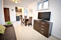Гостиная. Будванская ривьера, Черногория, Будва : Апартамент с отдельной спальней, с террасой