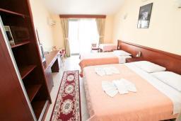 Спальня. Будванская ривьера, Черногория, Будва : Комната для 3 человек, с балконом с видом на море
