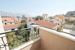 Балкон. Будванская ривьера, Черногория, Будва : Комната для 2 человек, с балконом с видом на море