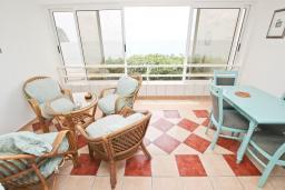 Балкон. Будванская ривьера, Черногория, Булярица : Апартамент с 2-мя отдельными спальнями, с шикарным видом на море, возле пляжа