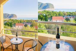 Балкон. Будванская ривьера, Черногория, Булярица : Двухместный номер-студио с балконом и видом на море