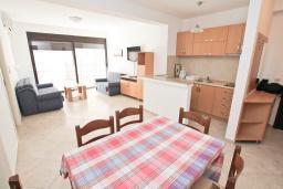 Гостиная. Будванская ривьера, Черногория, Рафаиловичи : Апартамент в 50 метрах от моря, с просторной гостиной и отдельной спальней