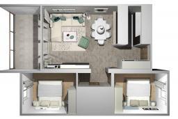 Прочее. Бечичи, Черногория, Бечичи : Апартамент с гостиной и двумя отдельными спальнями