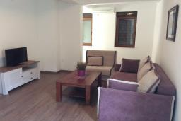 Гостиная. Рафаиловичи, Черногория, Рафаиловичи : Апартамент в 150 метрах от пляжа, с гостиной и отдельной спальней