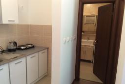 Кухня. Рафаиловичи, Черногория, Рафаиловичи : Апартамент в 150 метрах от пляжа, с гостиной и отдельной спальней