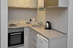 Кухня. Рафаиловичи, Черногория, Рафаиловичи : Апартамент в 50 метрах от пляжа, с гостиной и отдельной спальней