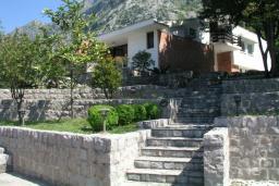 Территория. Боко-Которская бухта, Черногория, Доброта : Вилла в 70 метрах от пляжа, 2 гостиные-кухни, 4 спальни, 3 ванные комнаты, зеленый сад, 4 паркоместа