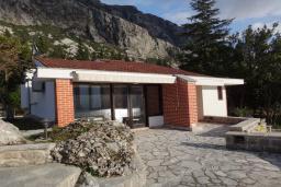 Фасад дома. Боко-Которская бухта, Черногория, Доброта : Вилла в 70 метрах от пляжа, 2 гостиные-кухни, 4 спальни, 3 ванные комнаты, зеленый сад, 4 паркоместа