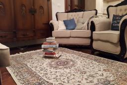 Гостиная. Будванская ривьера, Черногория, Кримовица : Вилла с бассейном, гостиной, кухней, 4 спальнями, 3 ванными комнатами, парковкой для двух машин