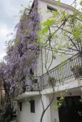 Фасад дома. Будванская ривьера, Черногория, Будва : Четырехэтажный дом с двумя гостиными, двумя кухнями, 6 спален, 6 ванных комнат, гараж, сауна