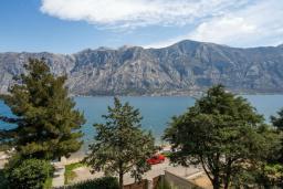 Вид на море. Боко-Которская бухта, Черногория, Прчань : Апартамент с балконом и видом на море, гостиная, отдельная спальня