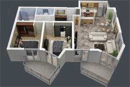 Боко-Которская бухта, Черногория, Доброта : Апартамент в 50 метрах от пляжа, большая гостиная, две спальни, балкон с видом на море