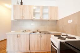 Кухня. Рафаиловичи, Черногория, Рафаиловичи : Апартамент с гостиной, отдельной спальней и балконом