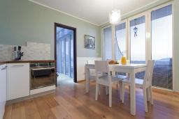 Кухня. Бечичи, Черногория, Бечичи : Апартаменты Делюкс с 2 спальнями и балконом с видом на море