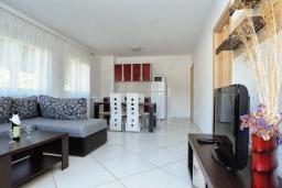 Гостиная. Рафаиловичи, Черногория, Рафаиловичи : Апартамент в 100 метрах от пляжа, с гостиной, тремя спальнями, двумя ванными комнатами и балконом с видом на море