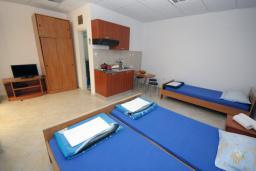 Студия (гостиная+кухня). Бечичи, Черногория, Бечичи : Трехместная студия с террасой (№2 Studio 02+1)