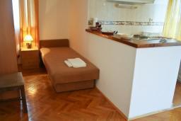 Гостиная. Будванская ривьера, Черногория, Петровац : Апартамент с балконом в 250 метрах от моря