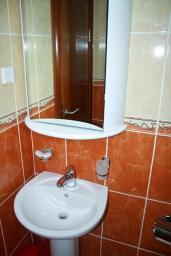 Ванная комната. Будванская ривьера, Черногория, Петровац : Апартамент с видом на море, 10 метров до пляжа