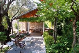 Территория. Будванская ривьера, Черногория, Бечичи : Дом в Бечичи с 5-ю спальнями, с закрытой территорией с садом и бассейном и крытой террасой.