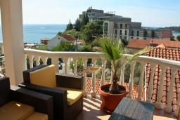 Вид. Бечичи, Черногория, Бечичи : Большой апартамент 45м2 с джакузи, огромным балконом-террасой с неповторимым видом на море и Рафаиловичи