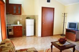 Гостиная. Бечичи, Черногория, Бечичи : Апартамент в Бечичи с балконом с видом на море
