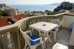 Вид на море. Бечичи, Черногория, Бечичи : Студия в Бечичи с видом на море