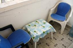 Балкон. Бечичи, Черногория, Бечичи : Студия в Бечичи в 300 метрах от моря