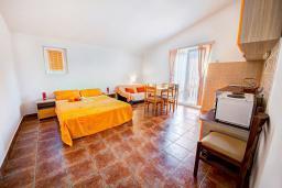 Гостиная. Будванская ривьера, Черногория, Каменово : Апартамент с отдельной спальней, с балконом с видом на море