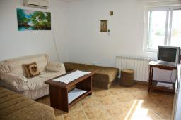 Гостиная. Будванская ривьера, Черногория, Каменово : Апартамент с видом на море, 100 метров от пляжа