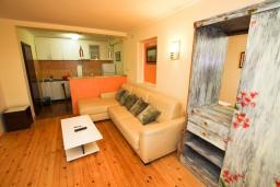 Гостиная. Будванская ривьера, Черногория, Каменово : Апартамент с отдельной спальней в 300 метрах от моря