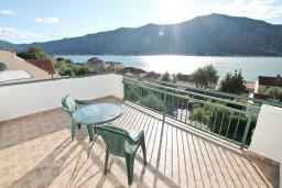 Вид на море. Боко-Которская бухта, Черногория, Доброта : Апартаменты с отдельной спальней, с террасой с шикарным видом на море, 30 метров от пляжа