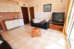 Гостиная. Будванская ривьера, Черногория, Бечичи : Апартаменты с террасой с видом на море
