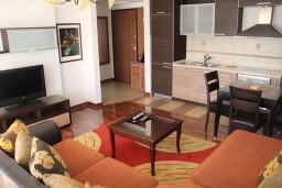 Гостиная. Бечичи, Черногория, Бечичи : Апартамент с отдельной спальней, с балконом и видом на море