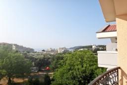 Вид. Бечичи, Черногория, Бечичи : Студия с балконом с видом на море на вилле с бассейном