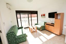 Гостиная. Рафаиловичи, Черногория, Рафаиловичи : Современный апартамент с отдельной спальней, с балконом с видом на море