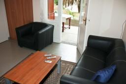Гостиная. Будванская ривьера, Черногория, Петровац : 2-х этажный дом для 14-17 человек, 6 спален, 5 ванных комнат, с зеленым садом, во дворе растёт 200-летняя маслина