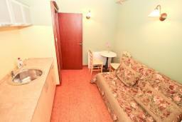 Гостиная. Боко-Которская бухта, Черногория, Котор : Апартамент с отдельной спальней, с балконом, 50 метров до моря
