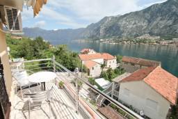 Балкон. Боко-Которская бухта, Черногория, Муо : Студия с балконом с шикарным видом на море, 20 метров до пляжа